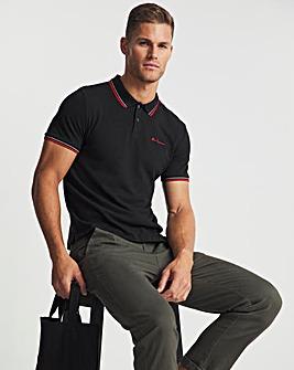 Ben Sherman Black Short Sleeve Signature Tipped Polo