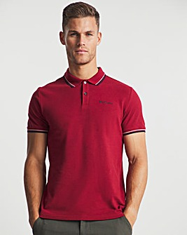 Ben Sherman Red Short Sleeve Signature Tipped Polo