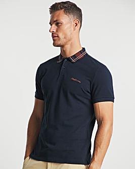 Ben Sherman Dark Navy Short Sleeve Collar Interest Polo