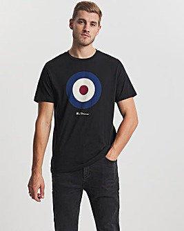 Ben Sherman Black Short Sleeve Signature Target T-Shirt