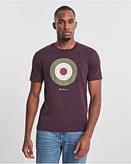 Ben Sherman Bordeaux Short Sleeve Signature Target T-Shirt