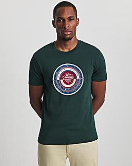 Ben Sherman Dark Green Short Sleeve Radio Dial T-Shirt