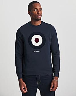 Ben Sherman Dark Navy Flock Target Sweatshirt