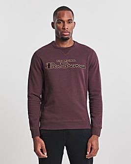 Ben Sherman Bordeaux Flock Signature Sweatshirt