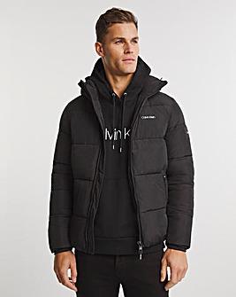 Calvin Klein Black Crinkle Nylon Puffer Jacket