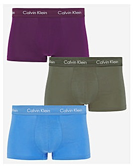 Calvin Klein Multi 3 Pack Cotton Stretch Low Rise Trunks