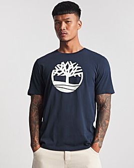 Timberland Dark Sapphire Kennebec River Tree Logo T-Shirt