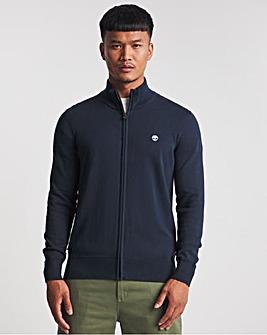Timberland Dark Sapphire Williams River Cotton Full-Zip Knitted Sweatshirt