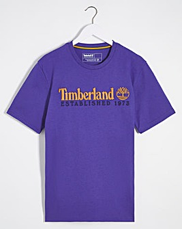 Timberland Black Outdoor Heritage Linear Logo T-Shirt