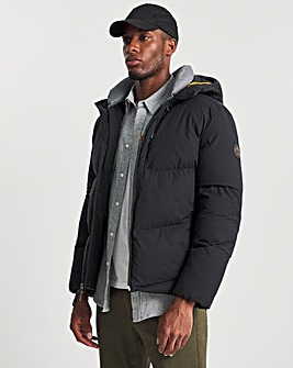 Timberland Black Neo Summit Warmest Quilted Hooded Jacket