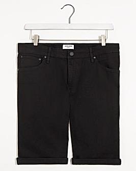 Jack & Jones Black Rick Denim Shorts