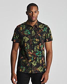 Joe Browns Palm & Parrot Shirt