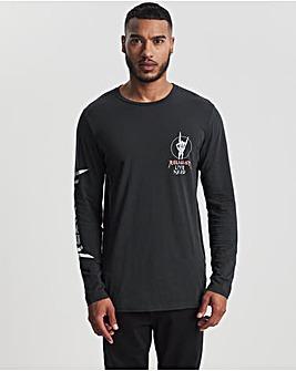Religion Washed Black Live Hard Long Sleeve T-Shirt