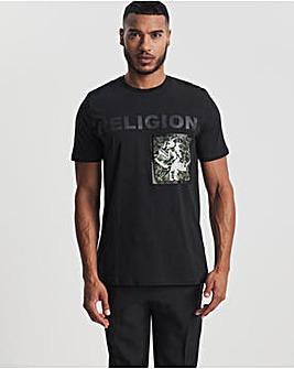 Religion Black Seige Short Sleeve T-Shirt
