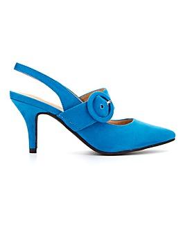 Flexi Sole Buckle Trim Shoes E Fit