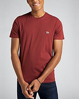 Lee Short Sleeve Fired Brick Patch Logo T-Shirt