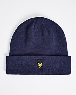 Lyle & Scott Navy Knitted Beanie Hat