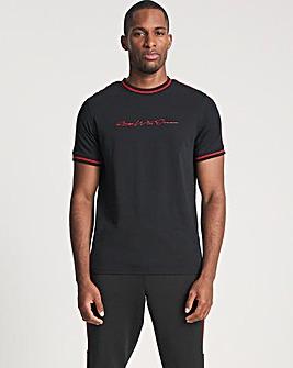 Kings Will Dream Black/Red Denson Short Sleeve T-Shirt