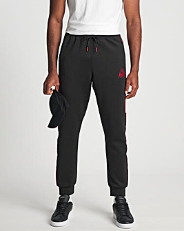 Kings Will Dream Black/Red Manse Poly Jogger