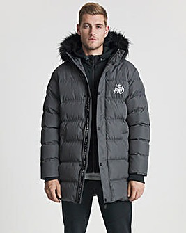 Kings Will Dream Charcoal Ice Puffer Jacket