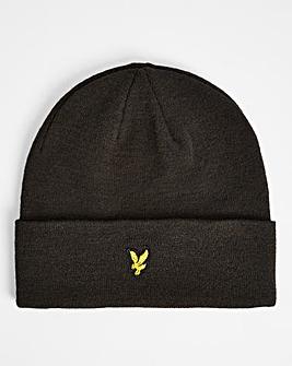 Lyle & Scott Black Knitted Beanie Hat