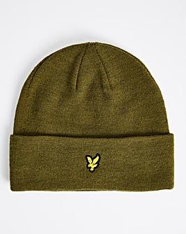 Lyle & Scott Olive Knitted Beanie Hat