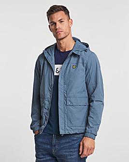 Lyle & Scott Slate Blue Hooded Pocket Jacket