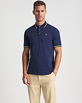 Lyle & Scott Navy Short Sleeve Double Tipped Polo