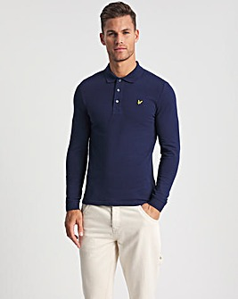 Lyle & Scott Navy Classic Long Sleeve Polo