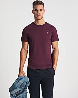 Lyle & Scott Burgundy Classic Short Sleeve T-Shirt