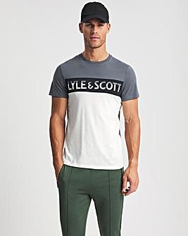 Lyle & Scott Off White Sport Chest Logo T-Shirt