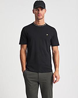 Lyle & Scott Black Branded Ringer T-Shirt