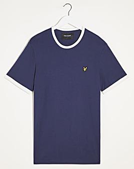 Lyle & Scott Navy/White Short Sleeve Ringer T-Shirt