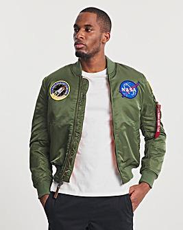 Alpha Industries Sage Green MA-1 VF 59 NASA Jacket