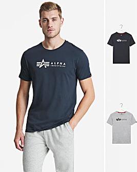 Alpha Industries Grey & Blue 2 Pack T-Shirt