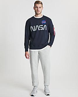 Alpha Industries Rep Blue NASA Reflective Sweatshirt