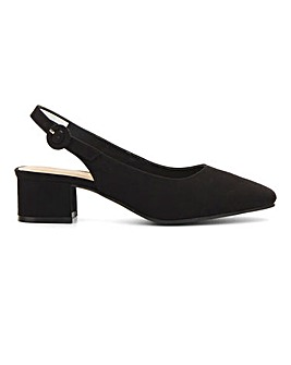 Flexi Sole Square Toe Shoes E Fit
