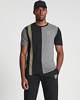 11 Degrees Short Sleeve Colour Block T-Shirt