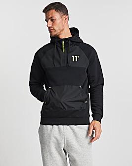 11 Degrees Panelled 1/4 Zip Sweatshirt