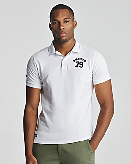 Superdry White Superstate Short Sleeve Polo