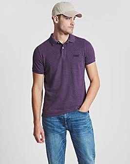 Superdry Vintage Purple Classic Short Sleeve Pique Polo
