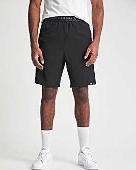 Superdry Black Train Relaxed Short