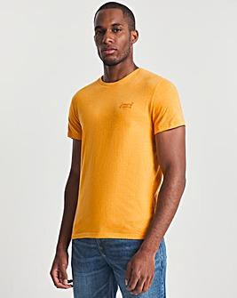 Superdry Tumeric Marl Vintage Logo Embroidery T-Shirt