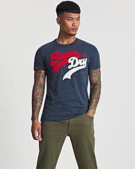 Superdry Navy Marl Vintage Label Source T-Shirt