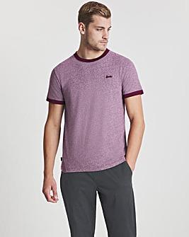 Superdry Burgundy Short Sleeve Vintage Ringer T-Shirt