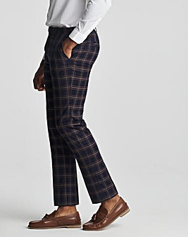 Skopes Seeger Slim Fit Navy Pink Check Suit Trousers