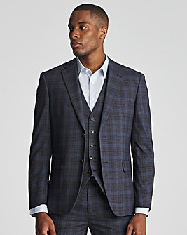 Skopes Suddard Tailored Fit Charcoal Check Suit Jacket