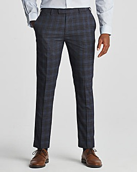 Skopes Suddard Tailored Fit Charcoal Check Suit Trousers