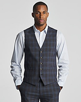 Skopes Suddard Tailored Fit Charcoal Check Suit Waistcoat