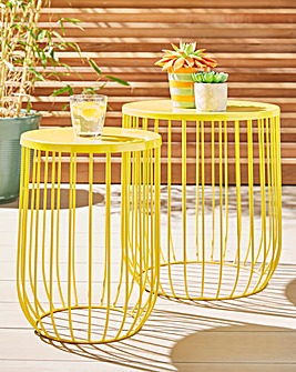 Set of 2 wire side tables